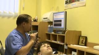 Доплерография сосудов головного мозга(Невропатолог проводит доплерографию сосудов головного мозга. Подробнее на сайте http://cdk.dp.ua/ru/diagnostics/stage2.html., 2013-06-28T15:55:27.000Z)