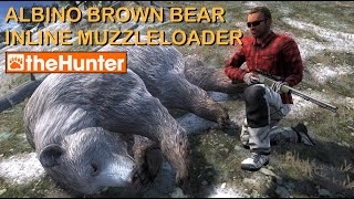 Albino Brown Bear with Inline Muzzleloader - theHunter PC Game