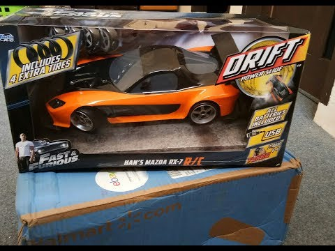 Unboxing Mazda RX7 Veilside Han's Fast and Furious Tokyo Drift, Jada Toys RC Drift scale 1/12