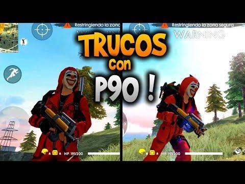 """TRUCOS PARA """"MATAR RÁPIDO Y DOMINAR AL MÁXIMO"""" LA *P90* EN FREE FIRE"""
