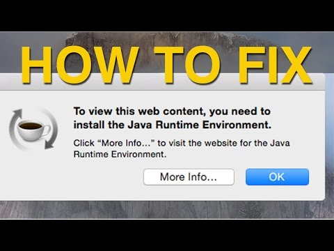 OSX Yosemite and Java Runtime Environment FIX