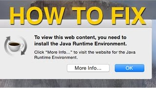 OSX Yosemite and Java Runtime Environment FIX