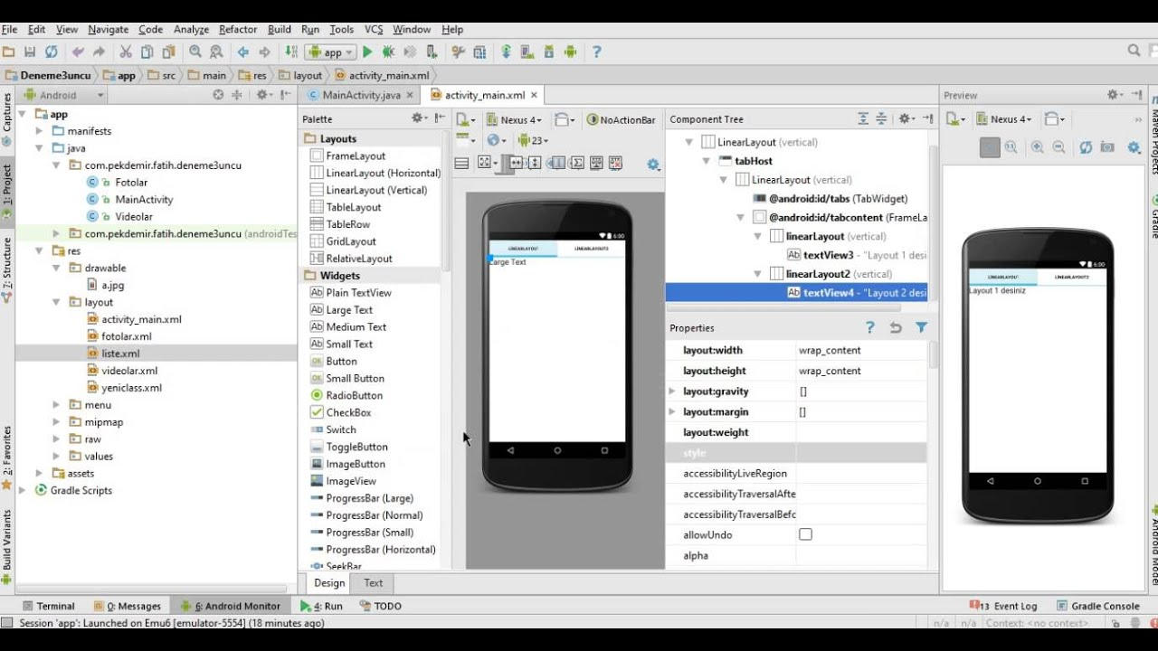 Android 23 TabHost