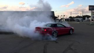 Camaro SS burnout at Stewart performance parking lot in Keller Texas