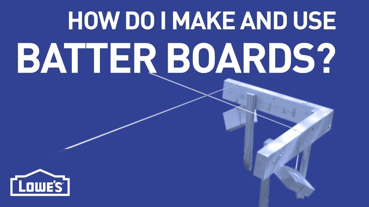 Use Batter Boards Diy Basics