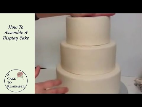 How To Assemble A Dummy Cake