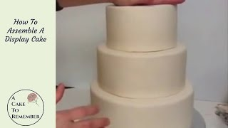 How to assemble a dummy cake. Cake decorating tutorial, wedding cake dummy cakes
