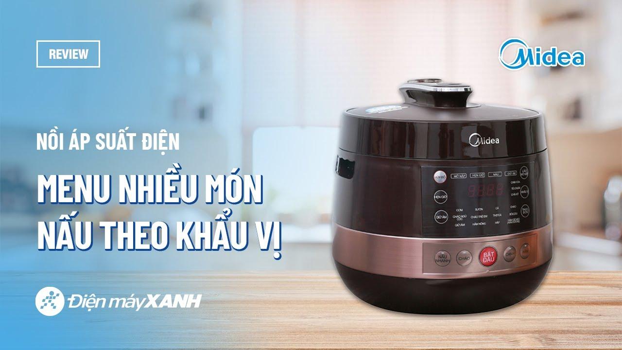 Nồi áp suất điện Midea 5 lít: nhỏ gọn, thực đơn nhiều món (MY-CS5039) • Điện  máy XANH - YouTube
