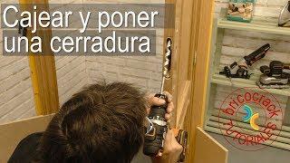 Cómo cajear la puerta y embutir una cerradura (Bricocrack)