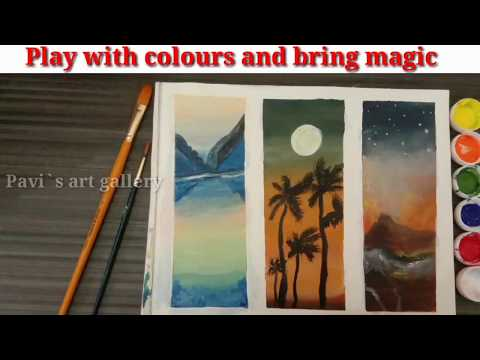 Painting Ideas| Painting ideas for canvas | Blending techniques #8