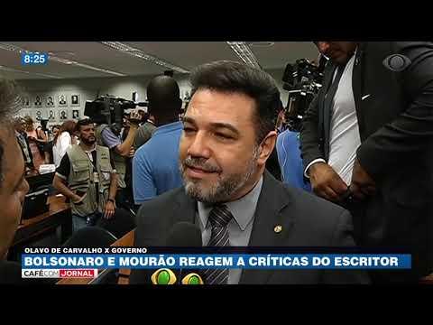 Bolsonaro e Mourão reagem a críticas e Olavo de Carvalho