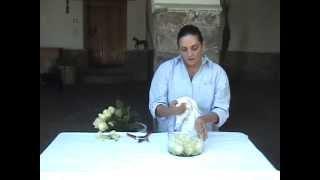 Cooking | Como hacer un arreglo rosas en una base de cristal