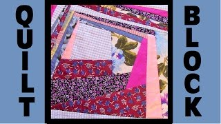 Quilt Block Party - Block 8: Thick and Thin - Crazy Quilt Block Tutorial