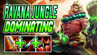 ABSOLUTE DOMINATION Ravana Jungle  SMITE Ranked Conquest Season 7
