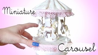 Miniature Carousel Tutorial // Dolls/Dollhouse
