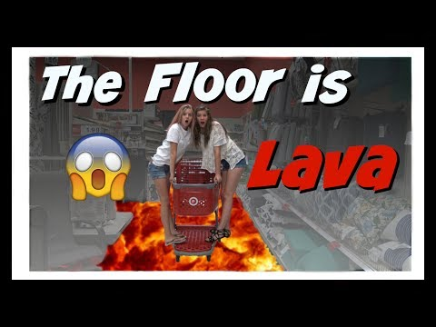 THE FLOOR IS LAVA CHALLENGE / GAME  AT TARGET | DO WE GET CAUGHT? || Taylor and Vanessa