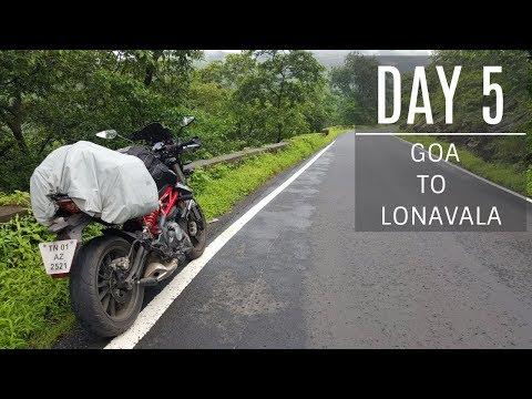 GOA to LONAVALA | Day 5 | Amboli Ghats | Benelli TNT 300 | Harley Davidson Street 750