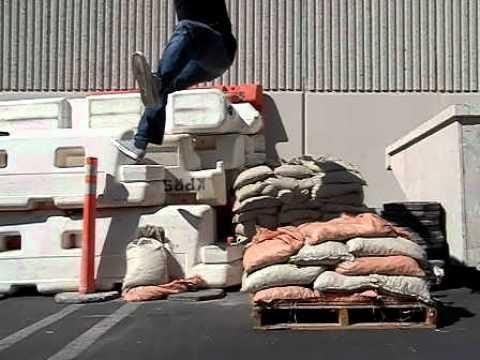 Sand Bag to Wall Jump Fail 2 [Casio EX-FC150 @ 240fps]