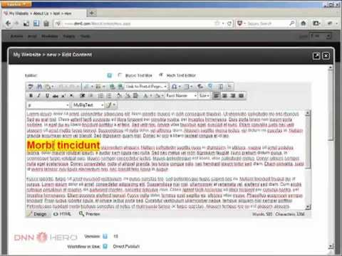DotNetNuke Tutorial - How To Create New CSS Styles To Use In The HTML Editor - Video #287