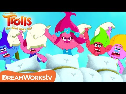 Epic Pillow Fight | TROLLS THE BEAT GOES ON!