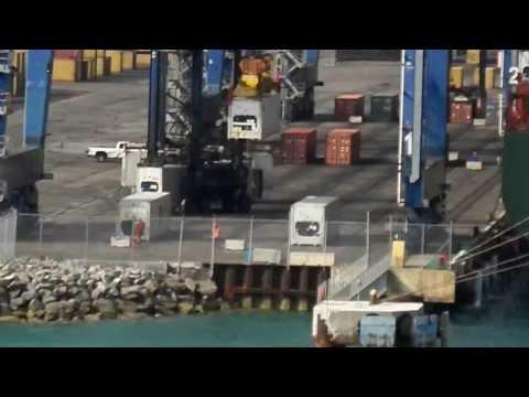 Freeport Bahamas Cargo Port in Action