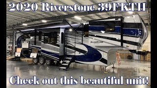 Luxury Front Kitchen 5 slide out Toy Hauler Fifth Wheel 2020 Riverstone 39FKTH @ Couchs RV Nation