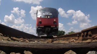 Amtrak #156 runs over my camera!