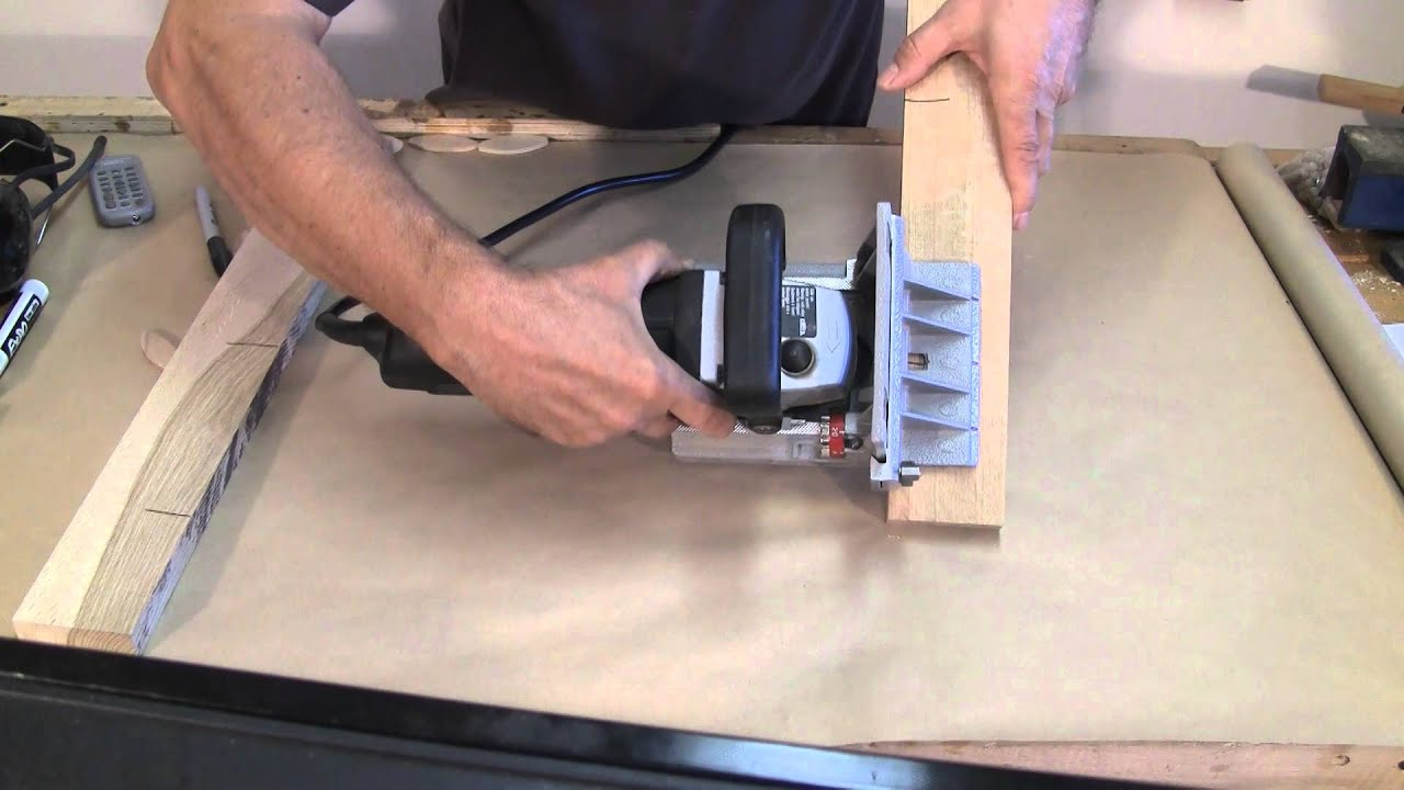 Using The Biscuit Joiner A Woodworkweb Woodworking Video