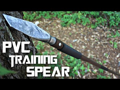 PVC Training (or THROWING) Spear (quick and easy)
