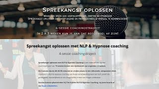 Spreekangst oplossen met NLP & Hypnose Coaching