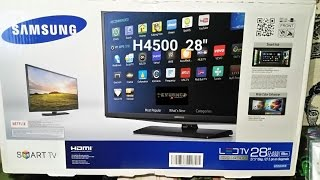 "Samsung  UN28H4500AFXZA H4500 Series 28"" Class HD Smart LED HD TV Review And Install BY KVUSMC"