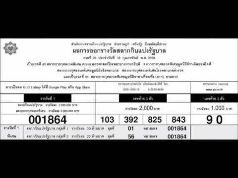 ผลสลากกินแบ่งรัฐบาล 16 กุมภาพันธ์ 2558 ตรวจหวย หวยออกอะไร