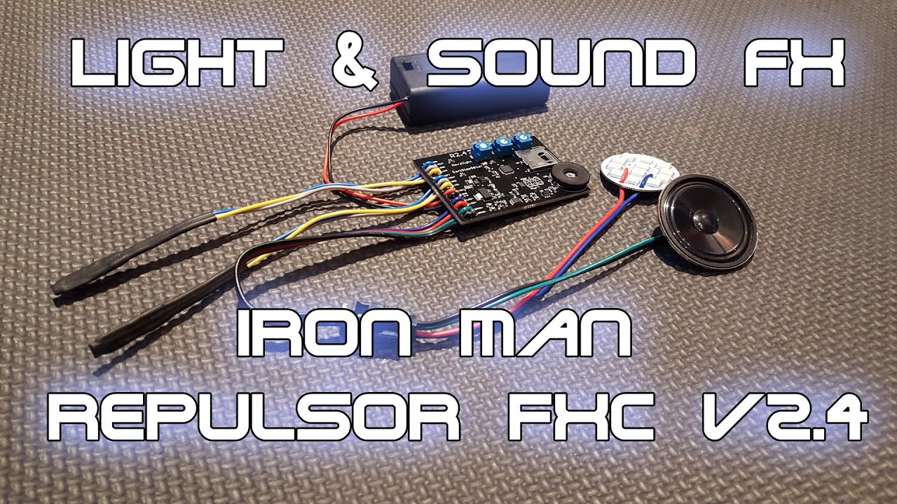 Iron Man Repulsor Fx Circuit V24 For Your Glove Gauntlet Or Full If There Are Any Problems Please Contact Webmasterelectroniccircuits Armor
