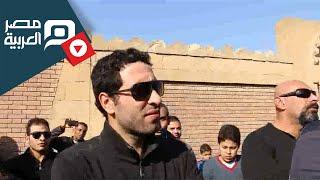 مصر العربية   ابو تريكة وحازم امام في جنازة الراحل طارق سليم