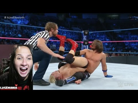 WWE Smackdown 10/11/16 James Ellsworth vs AJ Styles