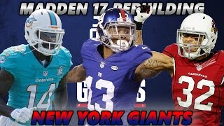 Madden 17 Connected Franchise | Rebuilding The New York Giants | LSU REUNITED!