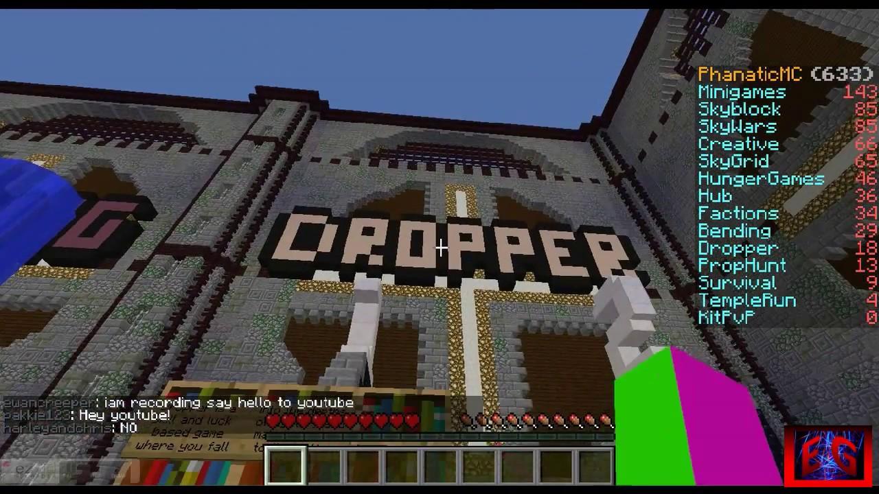 Minecraft Server Dropper Skyblock Skywars Many More YouTube - Minecraft server mit mods erstellen 1 8 9