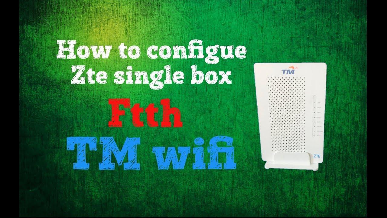 configure zte single box as TM WiFi
