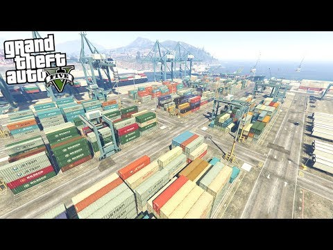 ROBBING THE DOCKS IN GTA 5!!! - EXPENSIVE CARGO (GTA 5 REAL LIFE PC MOD)