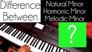 Minor स्केल के बीच अंतर Piano lesson #37