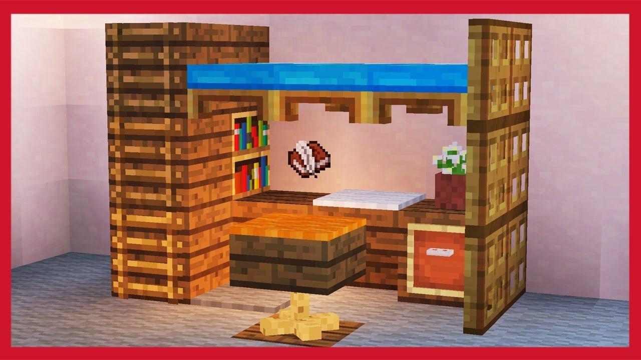 Camera Da Letto Minecraft minecraft: come fare una scrivania