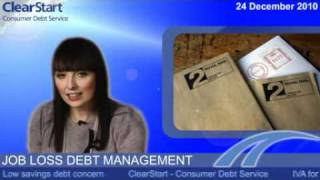 Job loss debt management