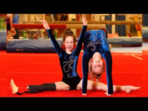Inspiring Young Disabled Gymnasts Showcase Their Skills