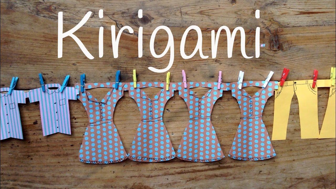 Guirnaldas de papel ropa colgada kirigami para ni os for Papel decomural para ninos