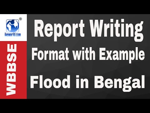 Report writing format flood in Bengal