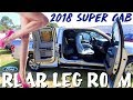 Rear Legroom Review ?? 2018 FORD F-150 Super Cab aka Extended Cab | 6Foot Man Test