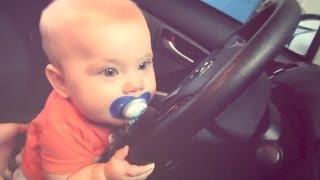 BABY DRINKS AND DRIVES! (3.13.14 - Day 412)