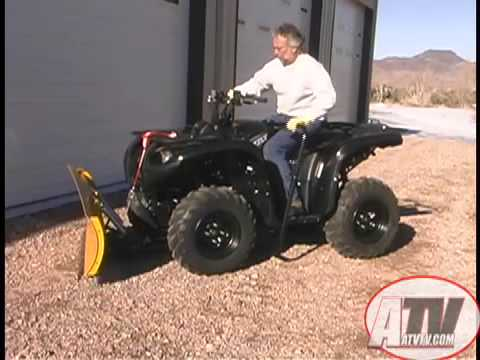 atv television product review warn cyclone plow and manual lift rh youtube com Yamaha ATV Snow Plow Kits Snow Plow Kit Yamaha Grizzly