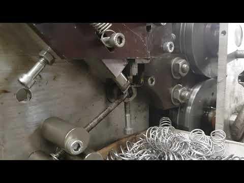DIY spring making machine on old Bridgeport CNC mill
