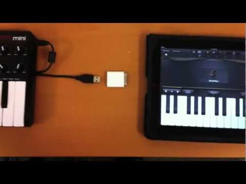 Connecting a USB MIDI Controller or Audio Interface to your iPad using the Camera Connection Kit